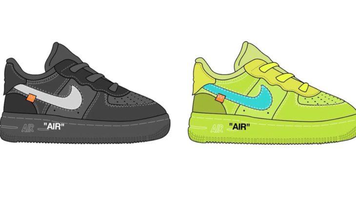 【2018年11月販売予定】Off-White × Nike AIR FORCE 1からキッズサイズの新作コラボが登場予定!