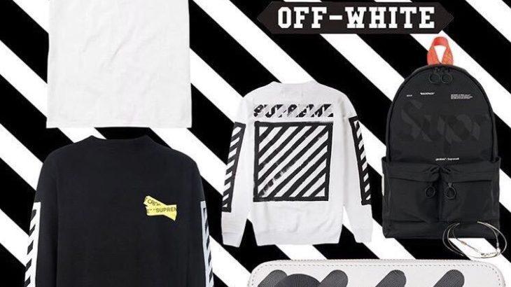 【リリース未定】Supreme × OFF-WHITEのモックアップがリーク!